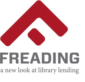 Freading Logo, a new look at library lending