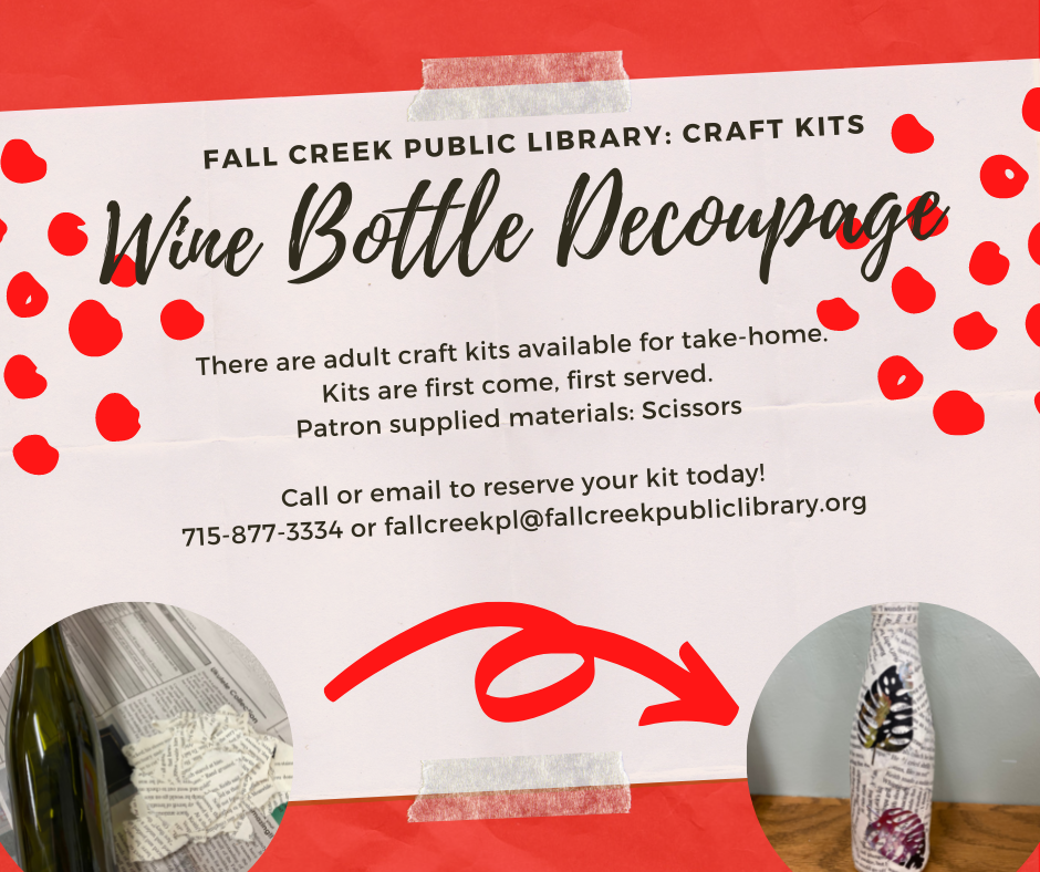 Wine Cork Magnets, kits are first come, first served at the library.